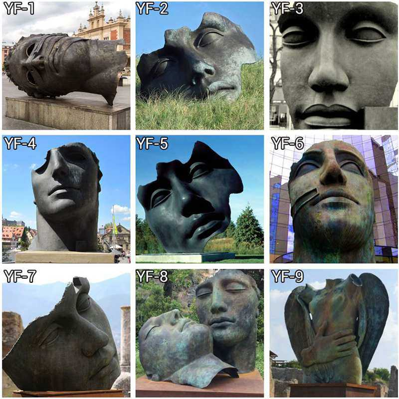 High Quality Famous Bronze Mitoraj Sculpture Bust Statue for Sale