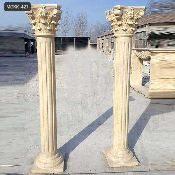 Interior Decoration Roman Corinthian Marble Columns for Sale MOKK-421
