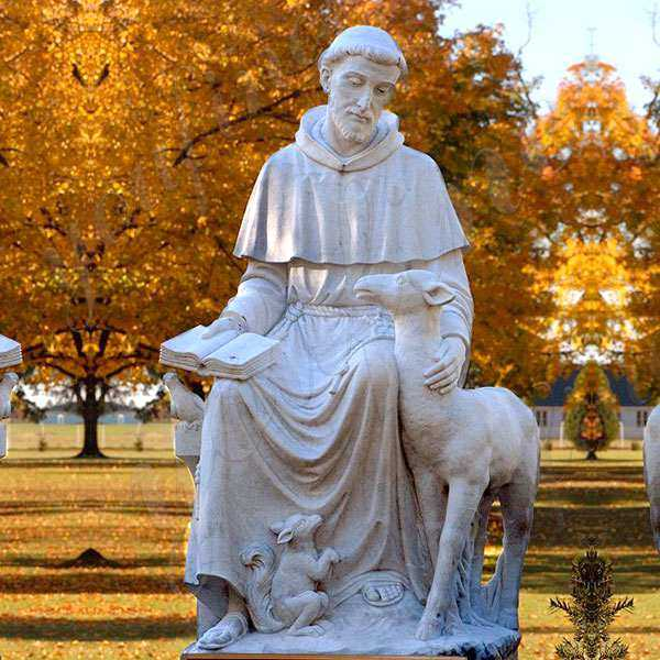 Large Catholic Garden Statue Outdoor St Francis of Assisi Statue with Animal Statue Design for Sale CHS-709