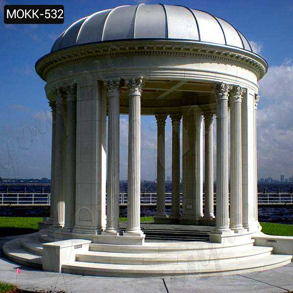 Large Outdoor Luxury Marble Garden Gazebo from Factory Supplier