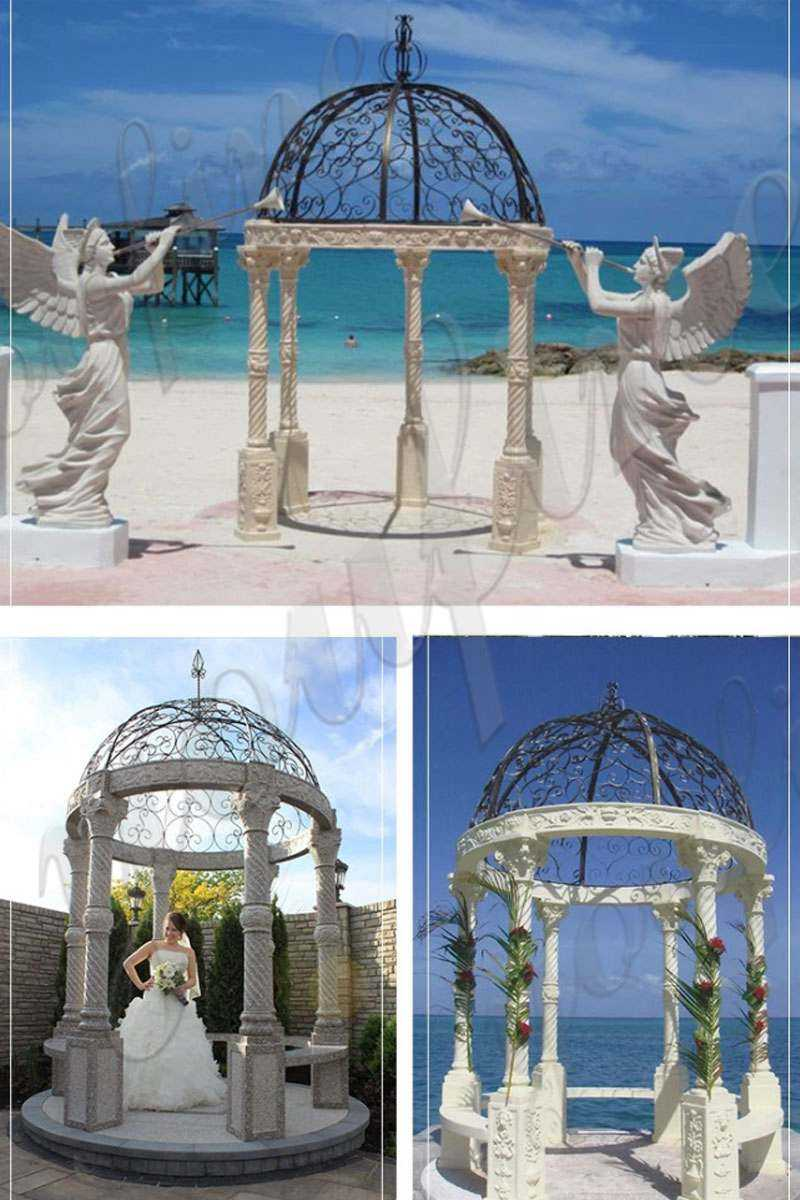 Large Outdoor Luxury Marble Garden Gazebo from Factory Supply for sale