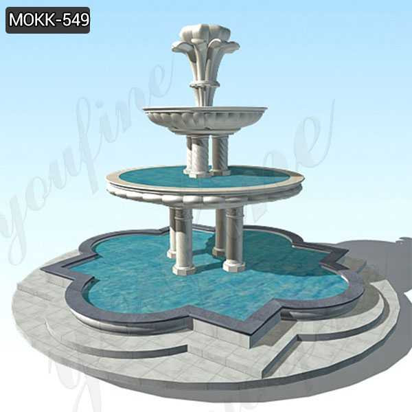 Large Outdoor Two Tiered Stone Fountain Garden Decor Supplier MOKK-549