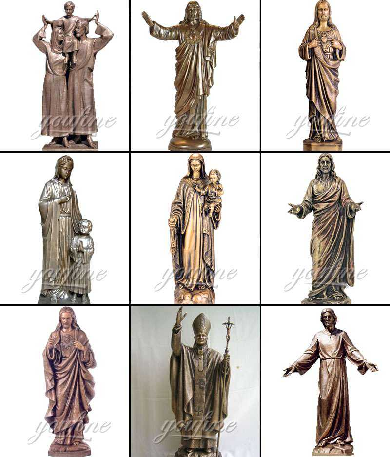 Life Size Bronze Blessed Mother Mary Outdoor Statue