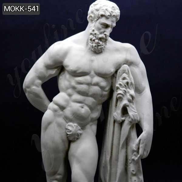 Life Size Handmade Marble Farnese Hercules Roman God Statue for sale