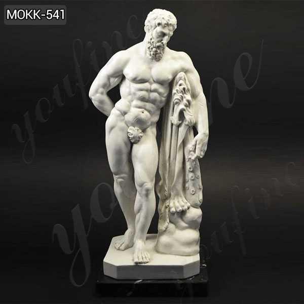 Life Size Handmade Marble Farnese Hercules Roman God Statue MOKK-541
