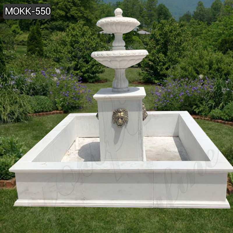 Lowest Price Tiered Marble Water Fountain for Backyard