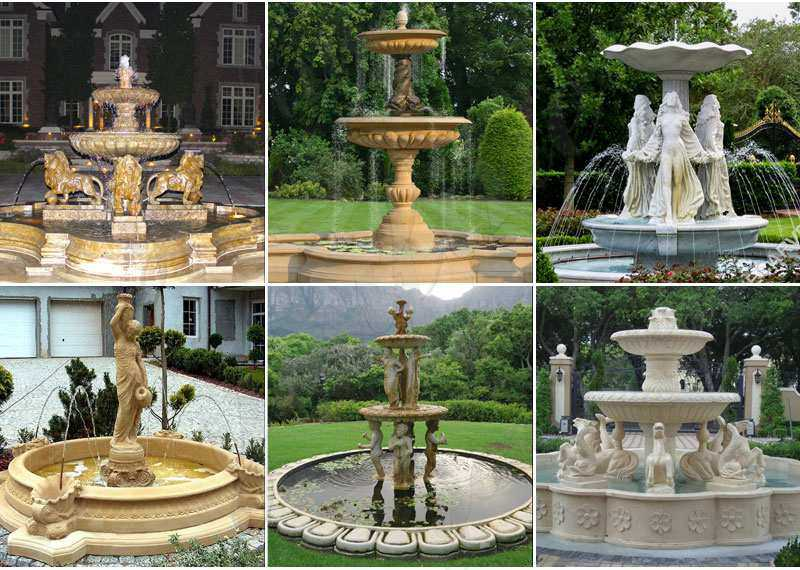 Lowest Price Tiered Marble Water Fountain
