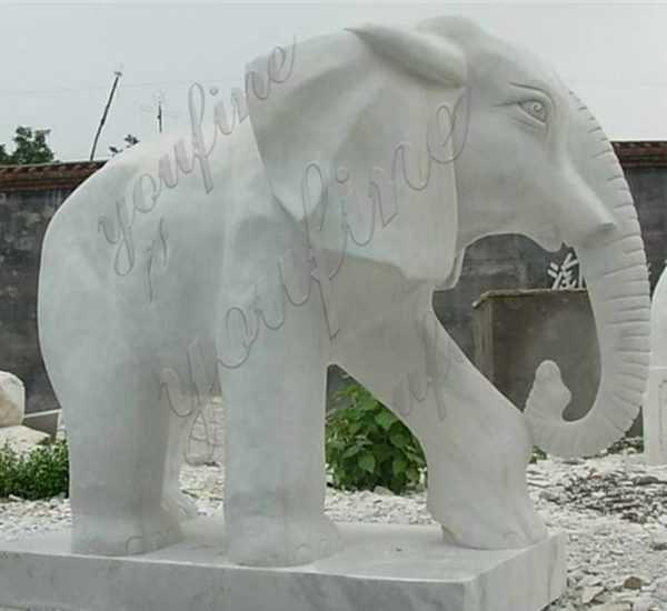 Marble Elephant Stone Sculpture