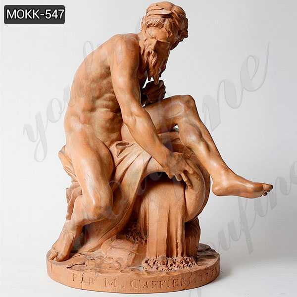 Marble Statue A River God by Jean-Jacques Caffieri Replica for sale