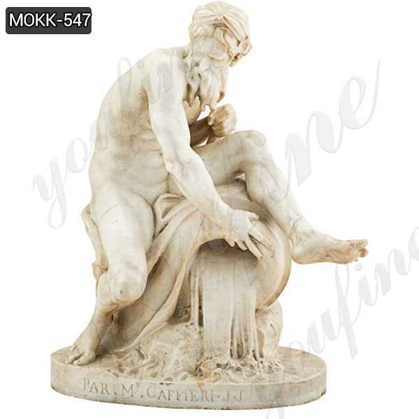 Marble Statue A River God by Jean-Jacques Caffieri Replica for sales