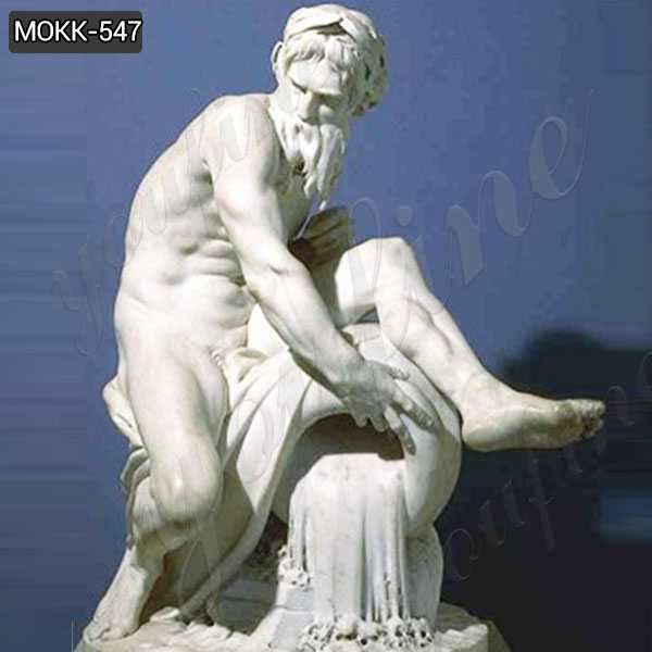 Marble Statue A River God by Jean-Jacques Caffieri Replica