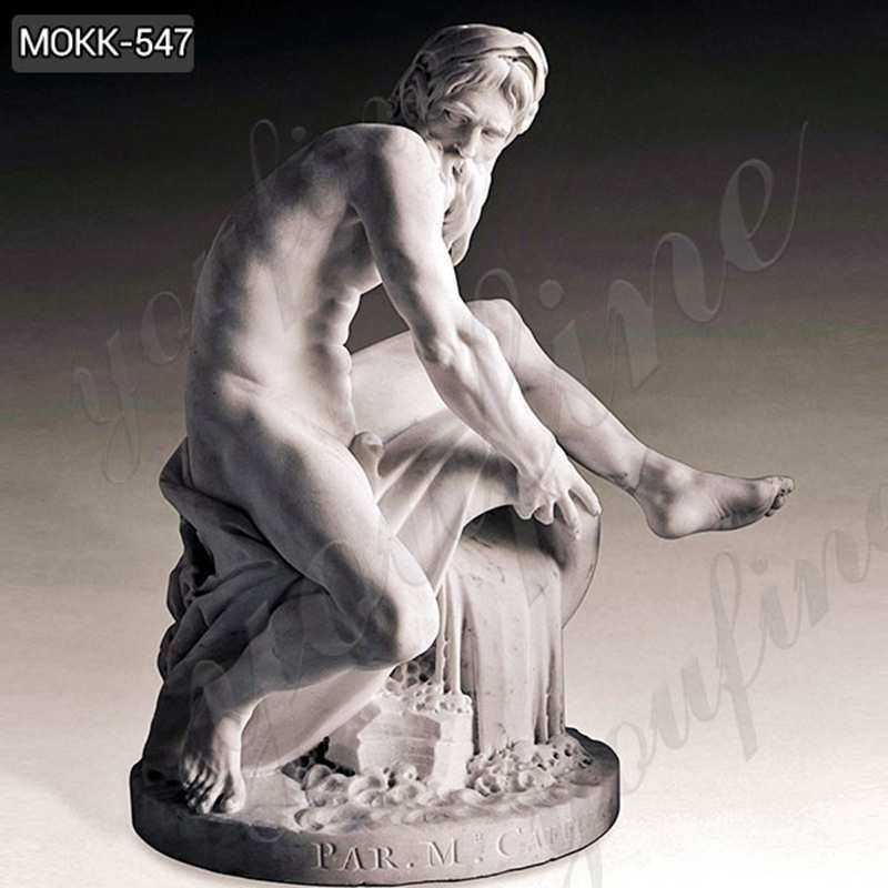 Marble Statue A River God by Jean-Jacques Caffieri Replicas