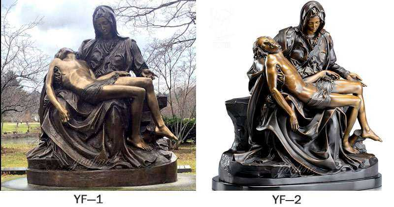 Mary and Jesus Bronze Religious Statue Michelangelo's Pieta Statue BOKK-613