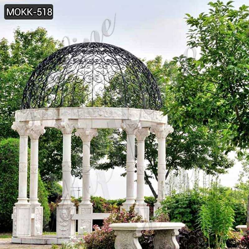 How to Install the Modern White Marble Gazebo?