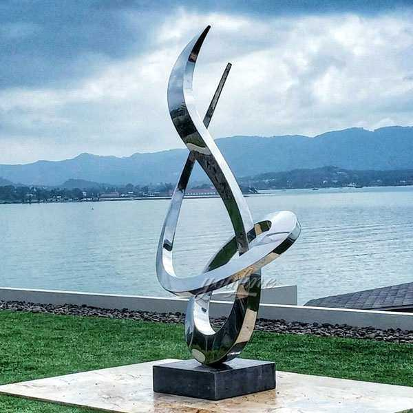 Symbol Decoration of Modern City Stainless Steel Sculpture