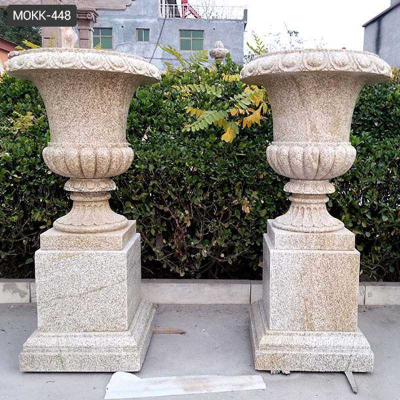 Natural Granite Outdoor Plant Pots for Yard Decoration