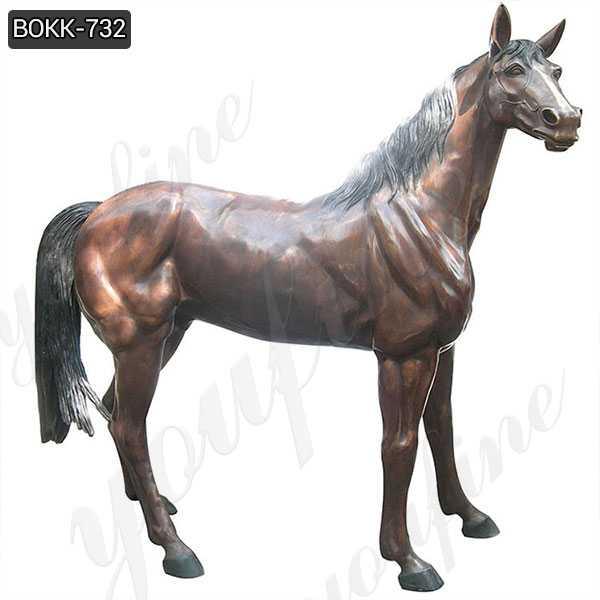 Outdoor Casting Bronze Life Size Horse Statue for Garden Manufacturer BOKK-732