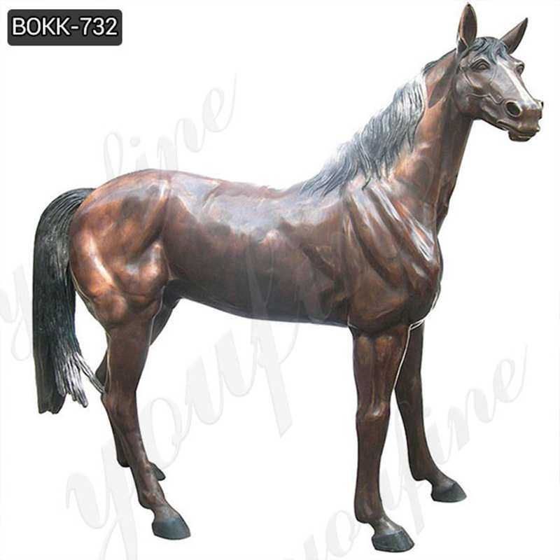 Outdoor Casting Bronze Life Size Horse Statue for Garden Manufacturer