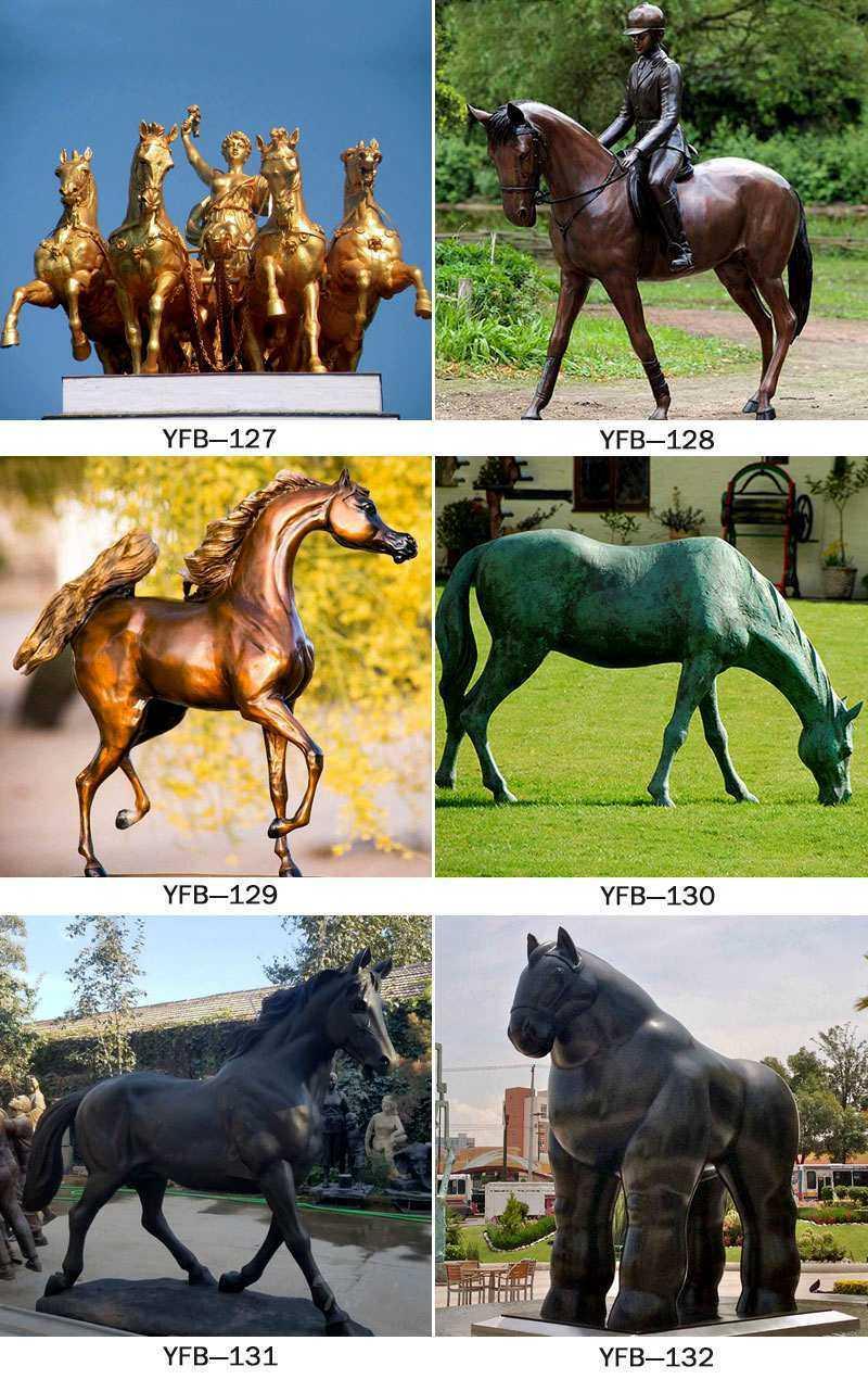 Outdoor Decorative Bronze Horse Mental Sculpture Supplier BOKK-248
