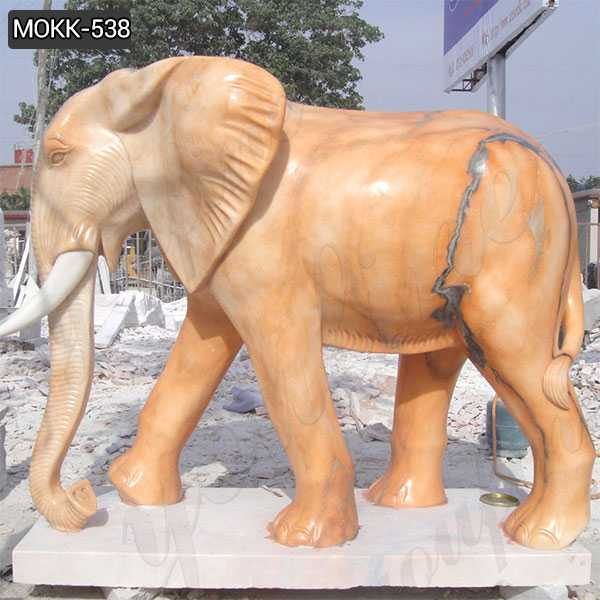 Outdoor Large Size Marble Elephant Statue for Yard Decoration