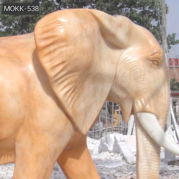 Outdoor Large Size Marble Elephant Statue on sale