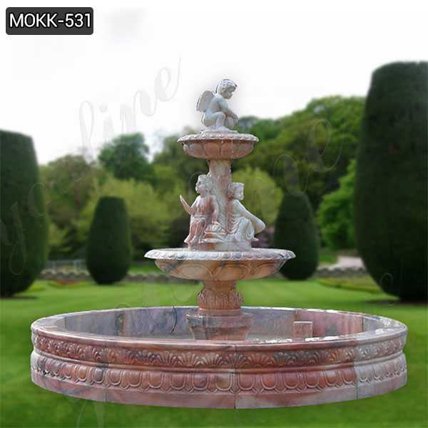 Outdoor Stone Garden Water Fountain Carved with Angel Statue