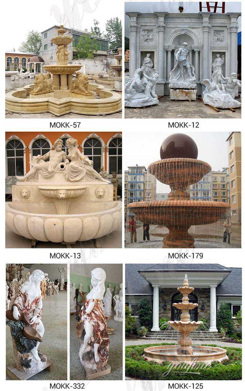 Outdoor Stone Garden Water Fountain
