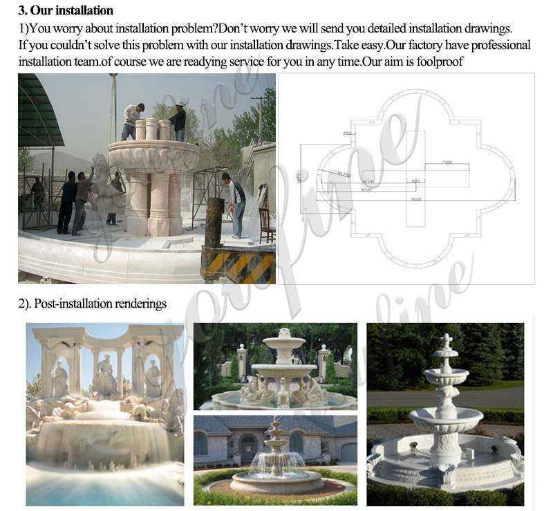 Outdoor Stone Garden Water Fountains
