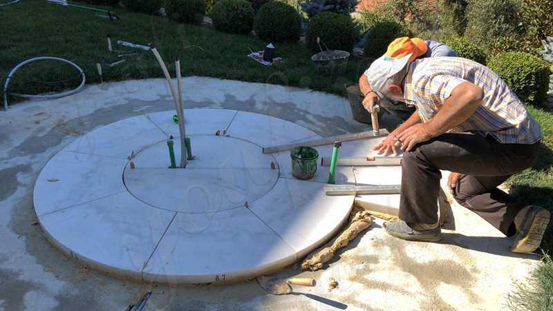 Outdoor Tiered Water Marble Fountain