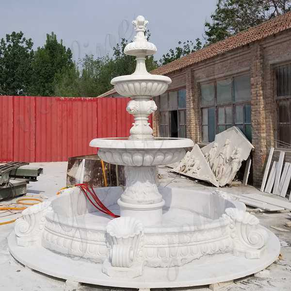 Outdoor Tiered Water Marble Fountain for Garden Decor Made for Our Client