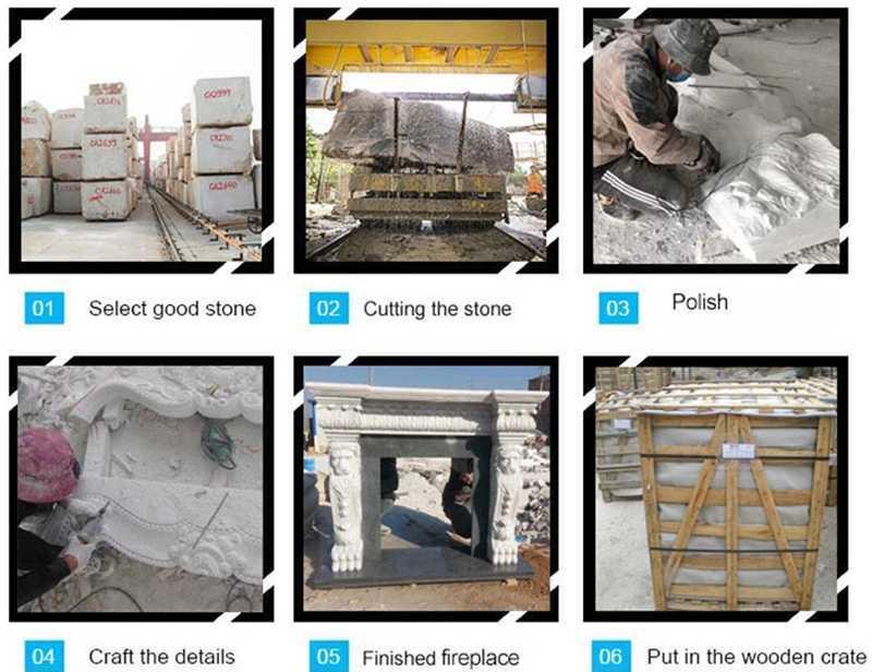 Stone Fireplace Mantels and Surrounds