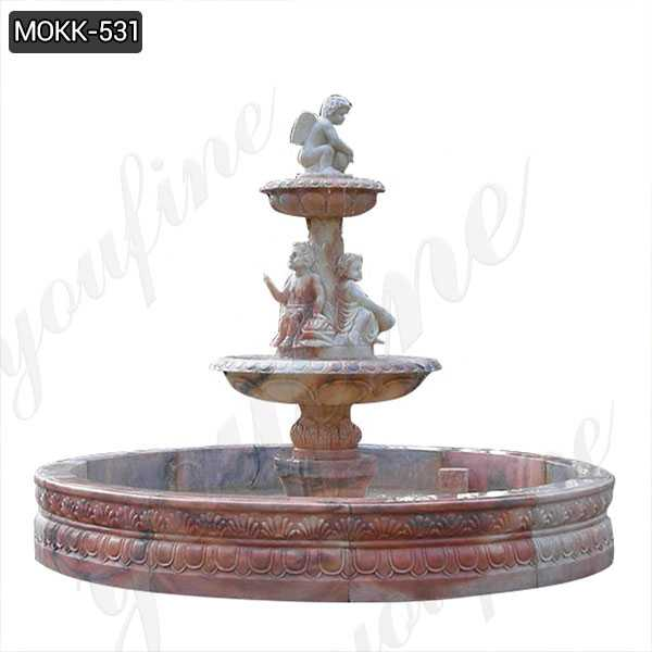 Stone Garden Water Fountain Carved with Angel Statues