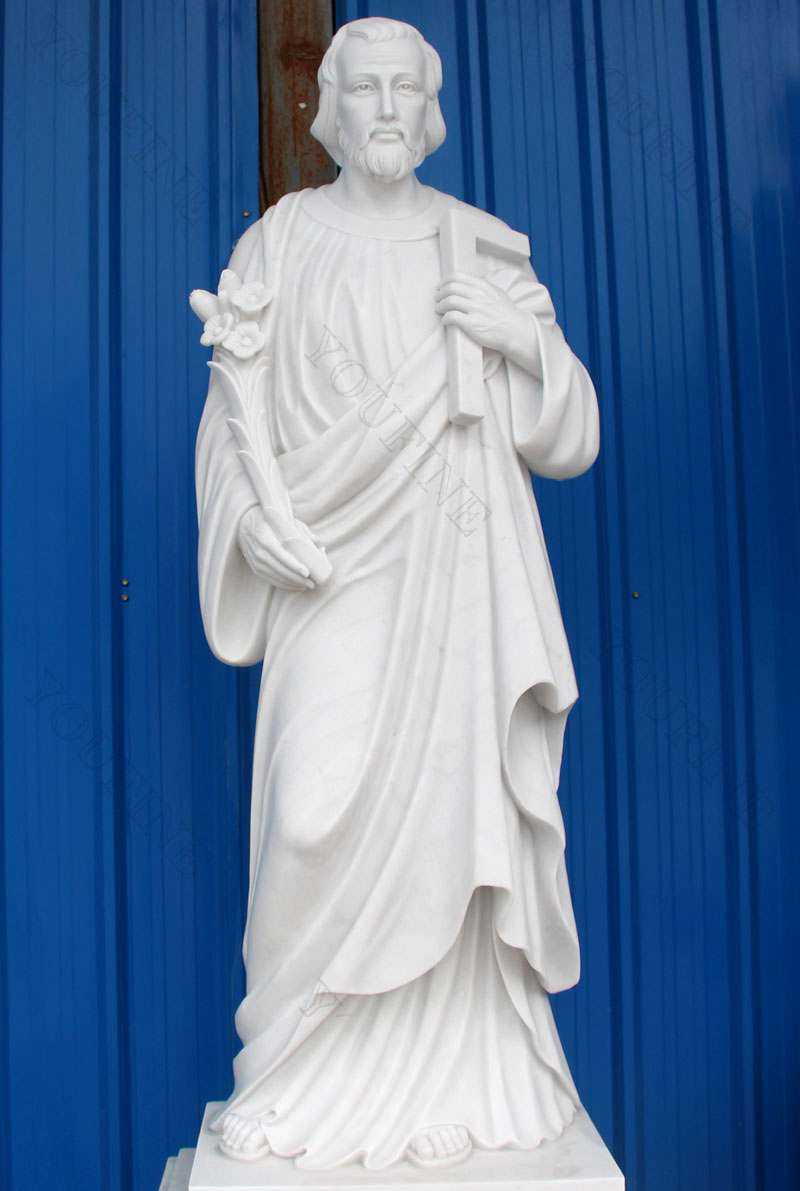 White Marble St Joseph Garden Statue with Competitive Price for sale