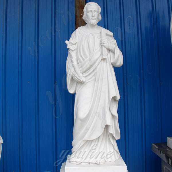 White Marble St Joseph Garden Statue with Competitive Price CHS-258