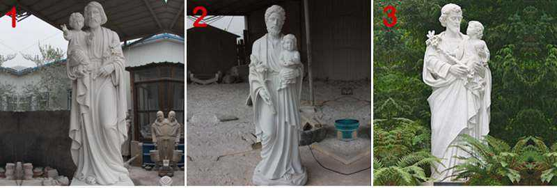 White Marble St Joseph Garden Statue with Competitive Prices