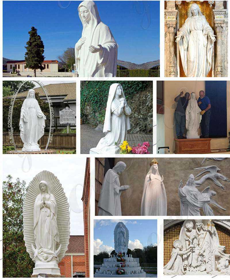 White Marble St Joseph Garden Statues