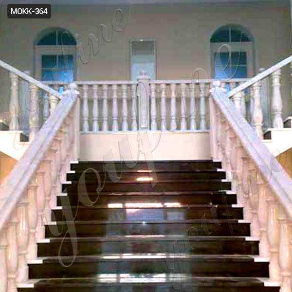 White Marble Stairs Pillars and Railings