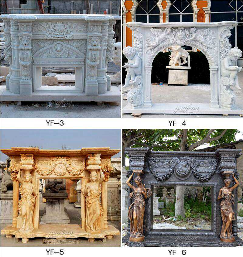 custom made marble fireplace for sale