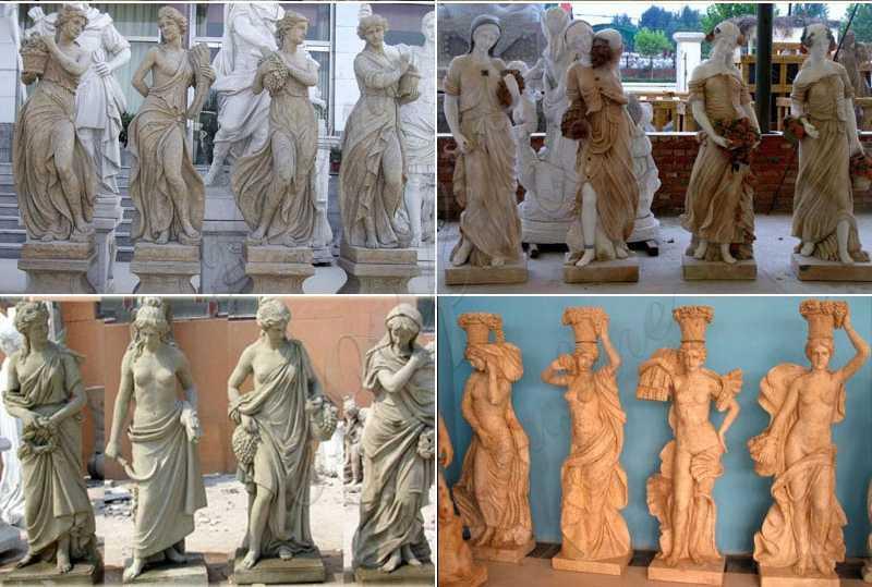 elegant-four-lady-statues