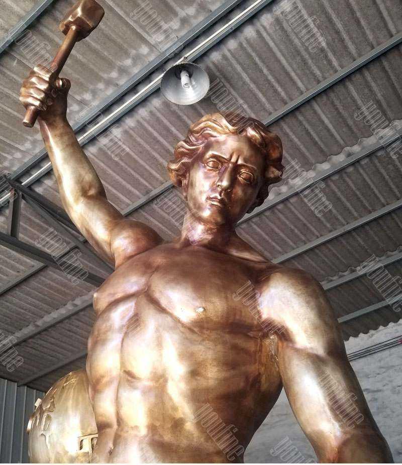 large custom made casting brass bobbie carlyle self made man replica outdoor bronze figure statue design for sale