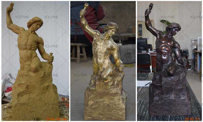 life size self made man statue replica for sale