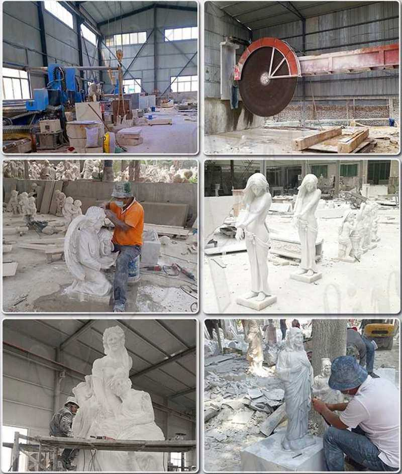 marble carving process of A River God by Jean-Jacques Caffieri