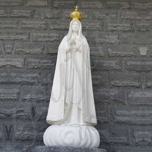 Religious Sculpture Our Lady of Fatima with Three Shepherd Statue for Church Decoration CHS-712