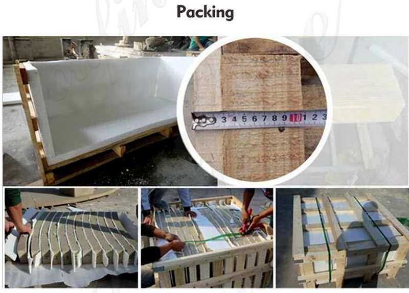 packing of Large Tiered Beige Water Fountain