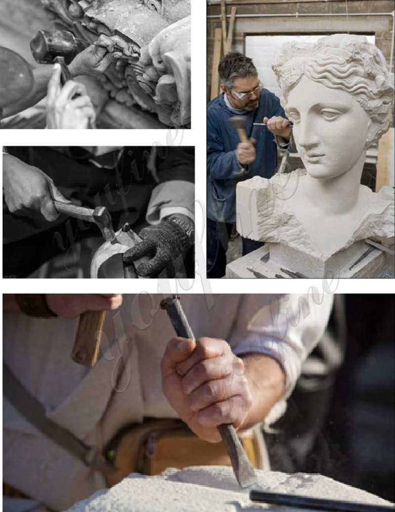 process of Marble Statue of Hercules and Lichas
