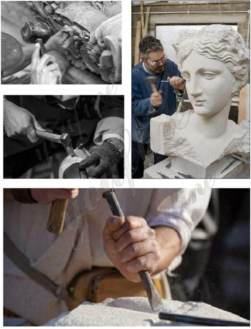 process of Marble Farnese Hercules Roman God Statue