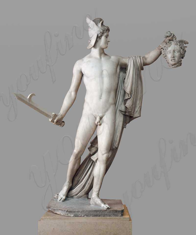 the head of Perseus and Medusa