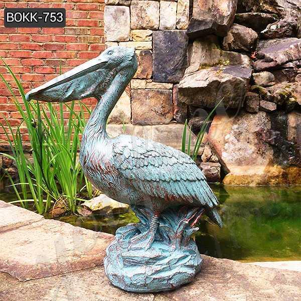 Animal Garden Sculptures Antique Bronze Pelican Statue for Sale BOKK-753