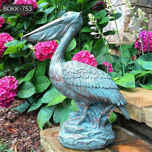 Animal Garden Sculptures Antique Bronze Pelican Statue for Sale BOKK-753