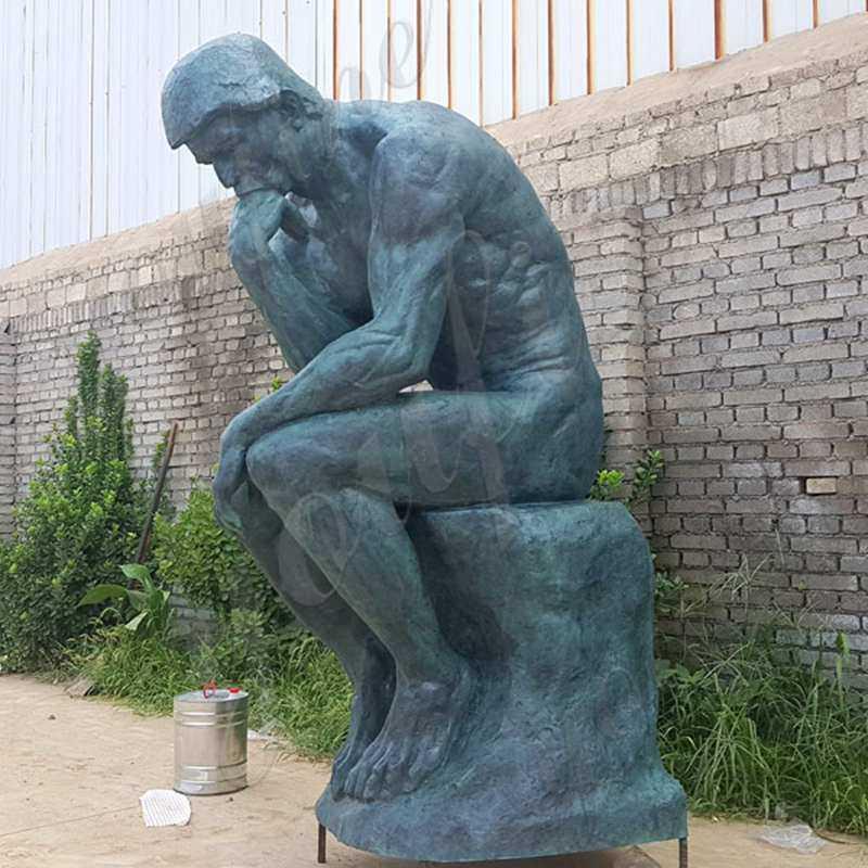 Antique Bronze Life Size Auguste Rodin Sculpture World Famous Bronze Sculpture the Thinker Statue Replica for Sale BOKK-554